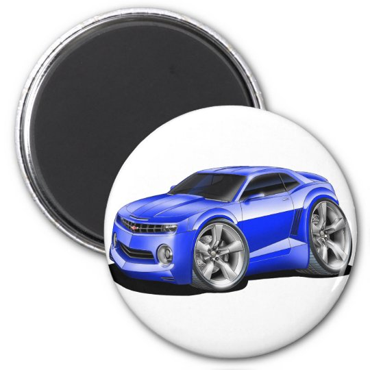 2010-11 Camaro Blue Car 2 Inch Round Magnet