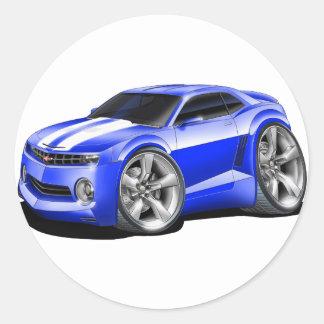 2010-11 Camaro Blue-White Car Classic Round Sticker