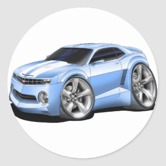 2010-11 Camaro Lt Blue-White Car Classic Round Sticker