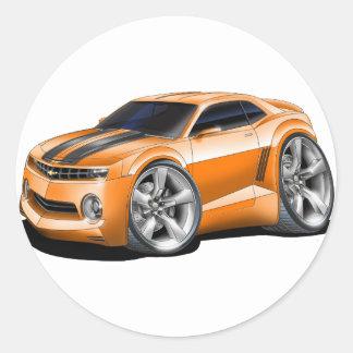 2010-11 Camaro Orange-Black Car Classic Round Sticker