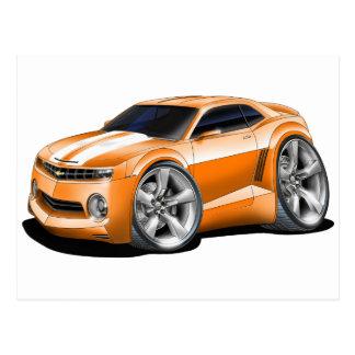 2010-11 Camaro Orange-White Car Postcard