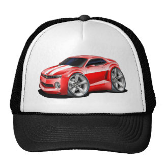 2010-11 Camaro Red-White Car Trucker Hat