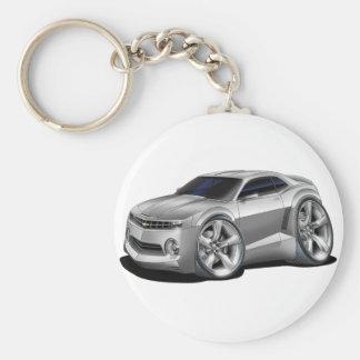 2010-11 Camaro Silver Car Basic Round Button Keychain