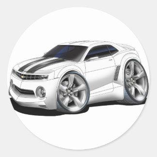 2010-11 Camaro White-Black Car Classic Round Sticker