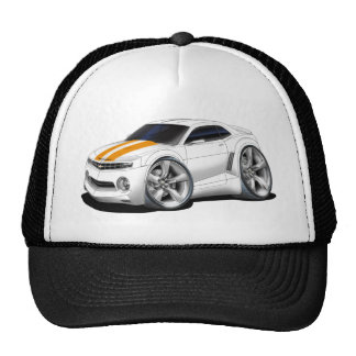 2010-11 Camaro White-Orange Car Trucker Hat