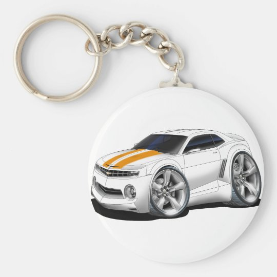 2010-11 Camaro White-Orange Car Keychain