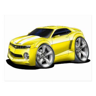 2010-11 Camaro Yellow-White Car Postcard