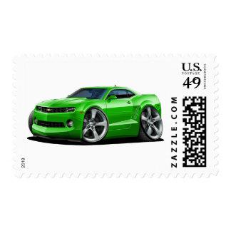 2010-12 Camaro Green Car Postage Stamp