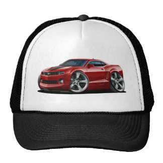 2010-12 Camaro Maroon-Black Car Trucker Hat