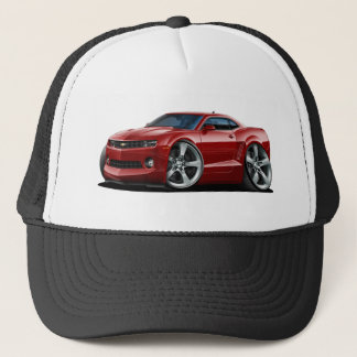 2010-12 Camaro Maroon Car Trucker Hat