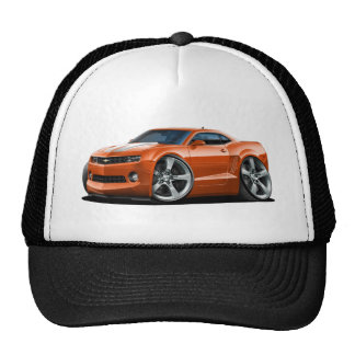 2010-12 Camaro Orange-White Car Trucker Hat