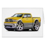 2010-12 camión Amarillo-Gris dual del espolón Tarjeton