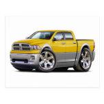 2010-12 camión Amarillo-Gris dual del espolón Tarjeta Postal
