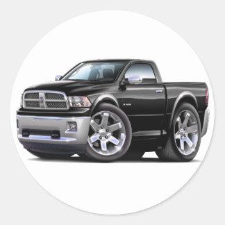 2010-12 camión negro del espolón pegatina redonda