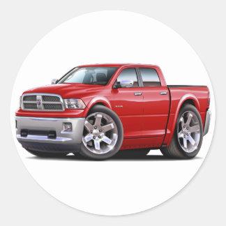 2010-12 camión rojo dual del espolón pegatina redonda