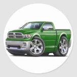 2010-12 camión verde del espolón etiquetas redondas
