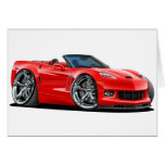 2010-12 Corvette Red Convertible Greeting Card