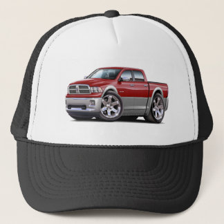 2010-12 Ram Dual Maroon-Grey Truck Trucker Hat