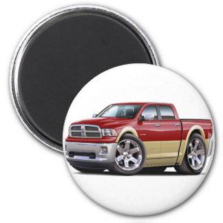 2010-12 Ram Dual Maroon-Tan Truck Magnet