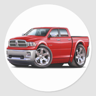 2010-12 Ram Dual Red Truck Classic Round Sticker