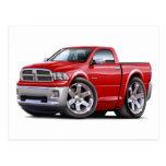 2010-12 Ram Red Truck Postcard
