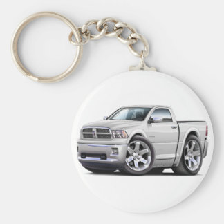2010-12 Ram White Truck Keychain
