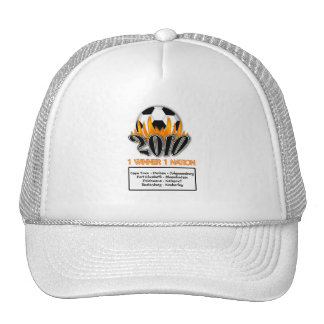 2010 1 Nation 1 Winner football match venues Trucker Hat