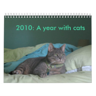 2010: A year with cats Wall Calendars