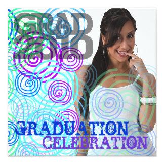 2010 Add Photo Graduation Party Coral Invitation