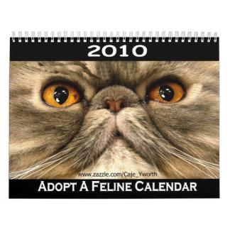 2010 adopte el calendario del gato