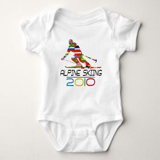 2010: Alpine Skiing Baby Bodysuit