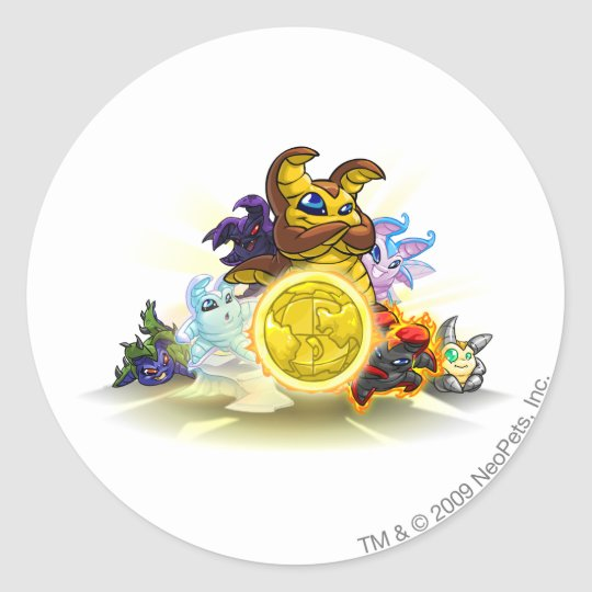 2010 Altador Cup Yooyu Group Classic Round Sticker