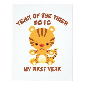 """2010 años del bebé del tigre invitación 4.25"""" x 5.5"""""""