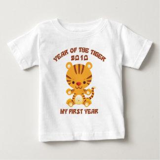 2010 años del bebé del tigre remera