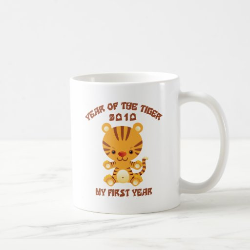 2010 años del bebé del tigre tazas de café