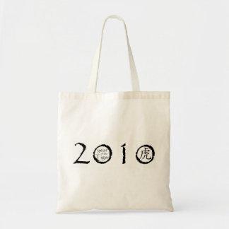 2010 años del bolso del tigre bolsa tela barata