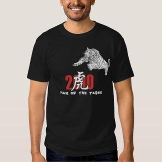 2010 años del negro del tigre camisas