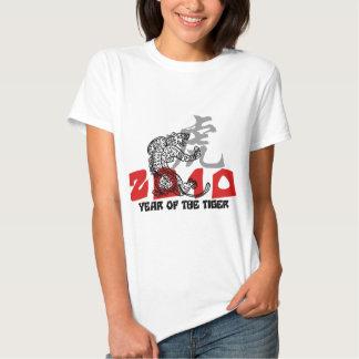 2010 años del símbolo del tigre playera