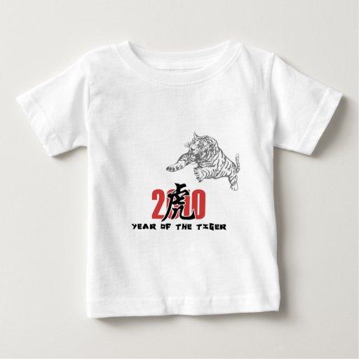 2010 años del tigre playera de bebé