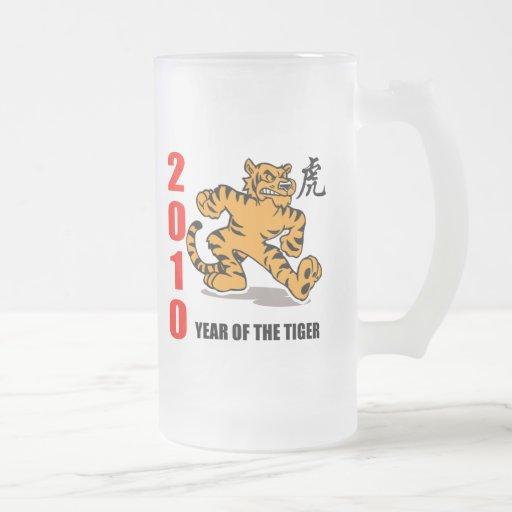 2010 años del tigre tazas de café