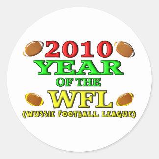 2010 años del WFL Etiquetas Redondas