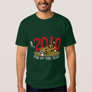 2010 años divertidos del tigre camisas