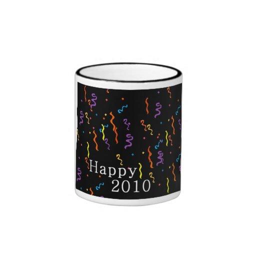 2010 Años Nuevos felices de taza