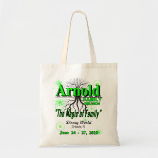 "2010 Arnold Family Reunion Budget Tote - ""magic"""