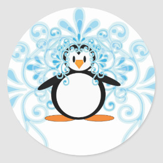2010 Beautiful Bride Penguin Classic Round Sticker