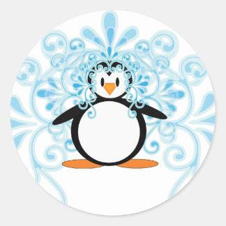 2010 Beautiful Bride Penguin Classic Round Sticker