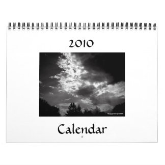 2010 Black and White Wall Calendar