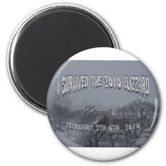 2010 Blizzard 2 Inch Round Magnet