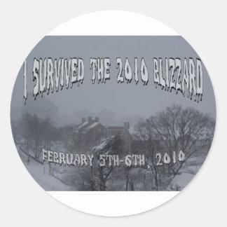 2010 Blizzard Classic Round Sticker