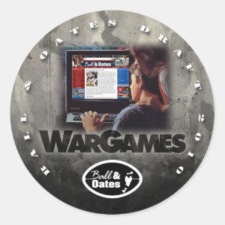2010 BNO DRAFT - WARGAMES CLASSIC ROUND STICKER
